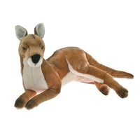 Bocchetta - Tully Red Kangaroo Lying Plush Toy 33cm