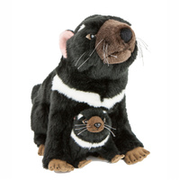 Bocchetta - Ebony Tasmanian Devil With Joey Plush Toy 38cm