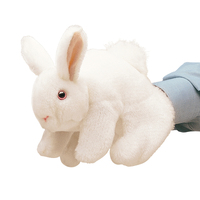 Folkmanis - White Bunny Rabbit Puppet
