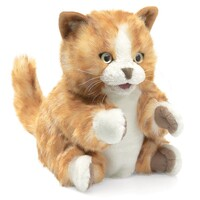 Folkmanis - Orange Tabby Cat Puppet