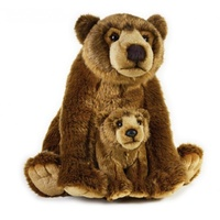 National Geographic - Grizzly Bear and Baby Plush Toy 31cm