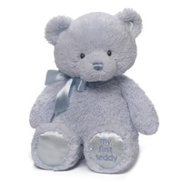 Gund - My First Teddy Blue 38cm