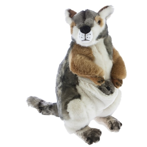 Bocchetta - Wattle Rock Wallaby with Joey Plush Toy 27cm