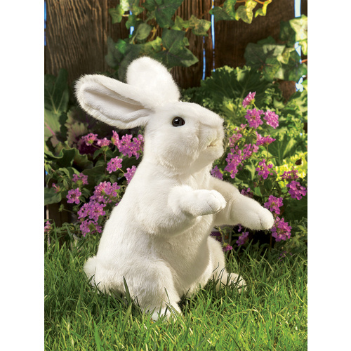 Folkmanis - White Rabbit Standing Puppet